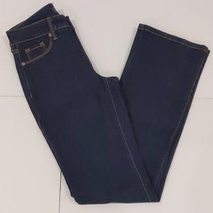 NYDJ dark blue denim bootcut jeans sz 0